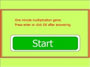 Game Mad minute math multiplication