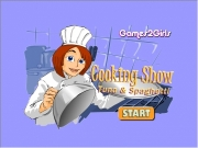 Game Cooking show tuna and spaghetti