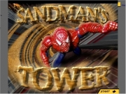 Spiderman sandmans tower. Start Upgrade This Flash movie requres a newer version of the plugin. Please click 'Start Upgrade' to upgrade your Health Bonus Time Use arrow keys move Spidey LEFT and RIGHT. SPACE BAR Hold down use shoot webs or RIGHT Sling collectBONUS POWERS! Symbiote Jolt You can't be stopped for 10 seconds - Clobber villains earn BONUS POINTS. Stay away from these! Collect these points. intro...