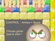 Driller. CONTROL : Arrows + Space Choose game type to start ! Depth: 500 LEVEL Easy Normal 1000 Hard 2000 Freaky hard Random About this Information , copyrights, etc. Y X Blocks Del Driller moveArr 100 Level Lifes Air 0 3...