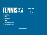 Tennis pong. http://www.matmi.com TENNIS by matmi ©matmi new media design Ltd score limit 15 : instuctions play visit email decrease increase instructions © The aim of the game is to get ball past computers paddle, first reach WINS!Return menu at any time pressing