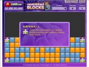 Mental blocks. Mental BlocksThe object of this game is to score as many points you can by clearing all the colored blocks from playing grid.Each time grid successfully cleared will advance next level. As progress higher levels more be added along with additional colors.- Click on a block that touching at least one other same color.- again remove grid.- Group color together maximize your score.- Accumulate bonus...