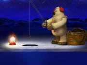 White bear fishing