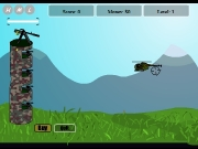 Game Tower defense against copter
