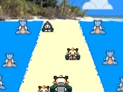 "Meowth car racing. Meowth KartRacing!!!!#!@#!@$/]= 1 A PKC mini-game ""Avoid the other cars!"" score x -00 -0000 Submit Score: 000 again?..."