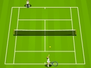 Tennis game. 100% BGM GAMEDESIGN TENNIS GAME Key Operation:Space key to hit the ball.Arrow move or aim ball direction at moment of stroke.Getting 3 games first win. EXHIBITION TOURNAMENT TOP PAGE 0 Forehand Backhand Serve Footwork COM YOU Space bar lineMC 40-30 AAAAAAAA AA GAMES PLAYER WIN ! - Back Title Bound.wav Hit.wav app.wav app2.wav Select your player PLAYERNAME NAMEPLAY 1st Match Congratulations! You w...