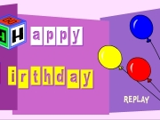 Game Happy birthday balloon card