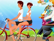Couple on bike dress up. 100 http://www.dressupgirl.net?traffic=redir...