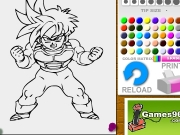Game Dragon ball Gohan coloring