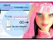 Game Create fab fashion for Barbie doll