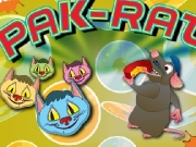 Pak rat. TO START GAME- PRESS ONE OR TWO PLAYER BUTTON.EAT AWAY WEDGES FOR 10 POINTS EACH.EAT FLASHING WHEELS OF CHEESE 50 POINTS.AFTER EATING A WHEEL, PAK-RAT CAN ATTACK THE CATS, SENDING THEM LITTER BOX.EAT FLOATING CHEESCAKE BONUS POINTS.1-UP EVERY 100,000 POINTS.IN TWO-PLAYERGAME, EACH ALTERNATESUNTIL SUPPLY PAK-RATS ARE EXHAUSTED.BEWARE CATS WHICH ABOUT CHANGE BACK DANGEROUS COLORS.BEWARE SYMBOLS DES...