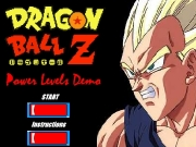 Game Dragon ball Z - power levels demo