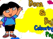 Dora And Buji Colouring Page Game