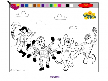 the wiggles coloring game to14com play now - Wiggles Pictures To Print