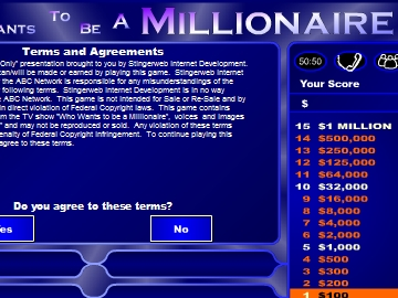 who want to be a millionaire game - to14 - play now !, Powerpoint templates
