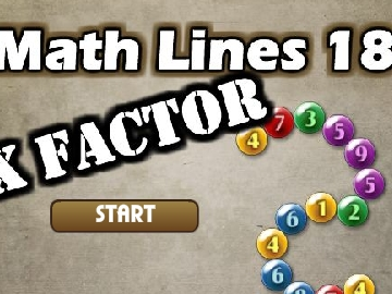 Math lines 18 - X factor game - To14.com - Play now !
